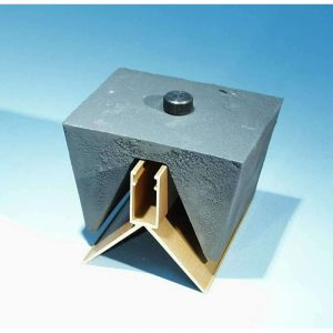 Air track stop block cast iron weight