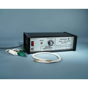 Air track spark generator EHV cables