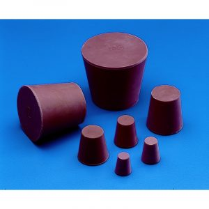Conical stopper - red rubber - solid