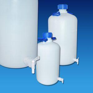 Aspirator bottles HDPE with tap K375