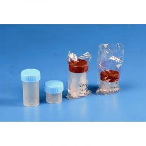 Container PP sterile individually packed with screw-cap