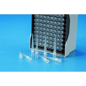 Boxed rack-pack filter tips - neutral (96 pcs) individual gamma-ray sterilised specific for Gilson® p200 + Kartell® pl-200 1 - 160 ul