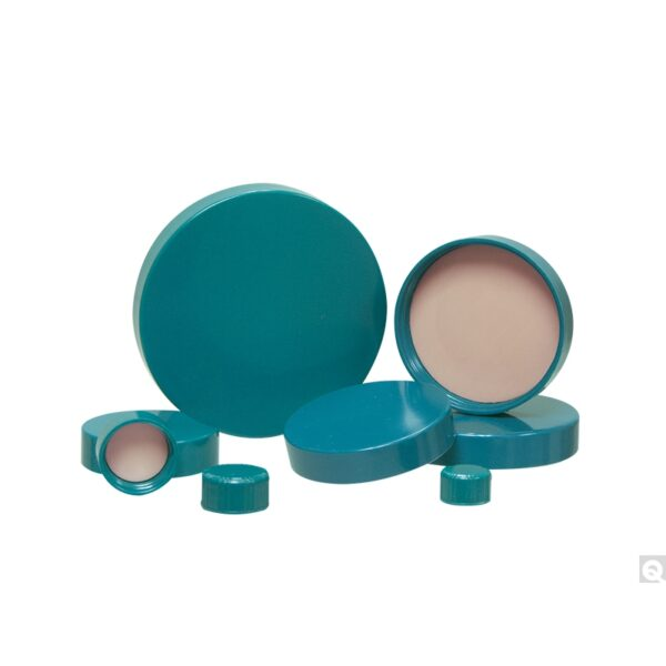 Qorpak 24-400 Green Thermoset Cap with F217 & PTFE Liner