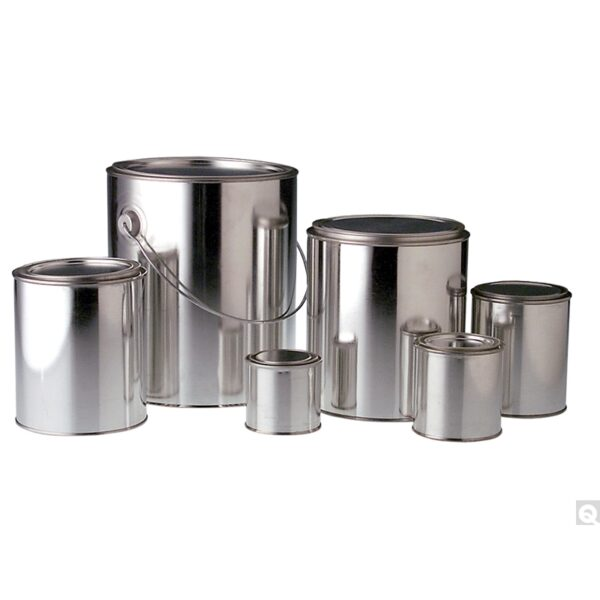 """Qorpak 1 Quart (32oz) (206 x 410 x 614) Metal Oblong F-Style Can with 1-1/4"""" opening"""