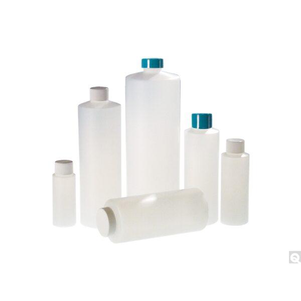 Qorpak 32oz (950ml) Natural HDPE Cylinder with 28-400 White Polypropylene Trigger Sprayer attached